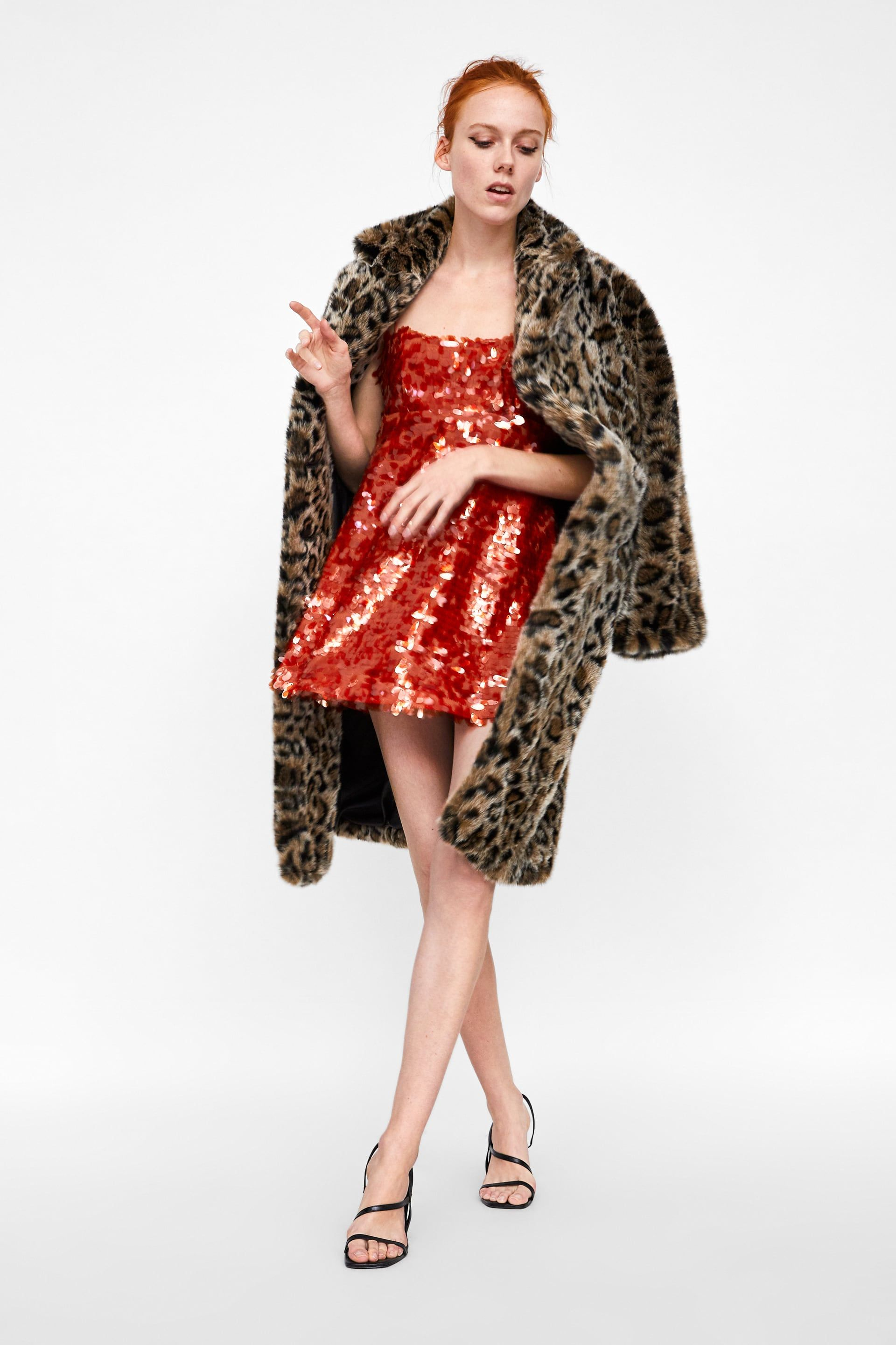 Image 1 Of Sequin Dress From Zara Red Sequin Dress Special Dresses Sequin Dress