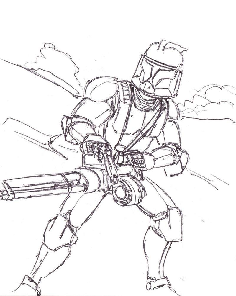 Clone Trooper Coloring Pages Educative Printable Star Wars Drawings Star Wars Artwork Star Wars Clone Wars