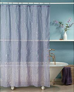 Shower Curtain Glitter Square Fabric
