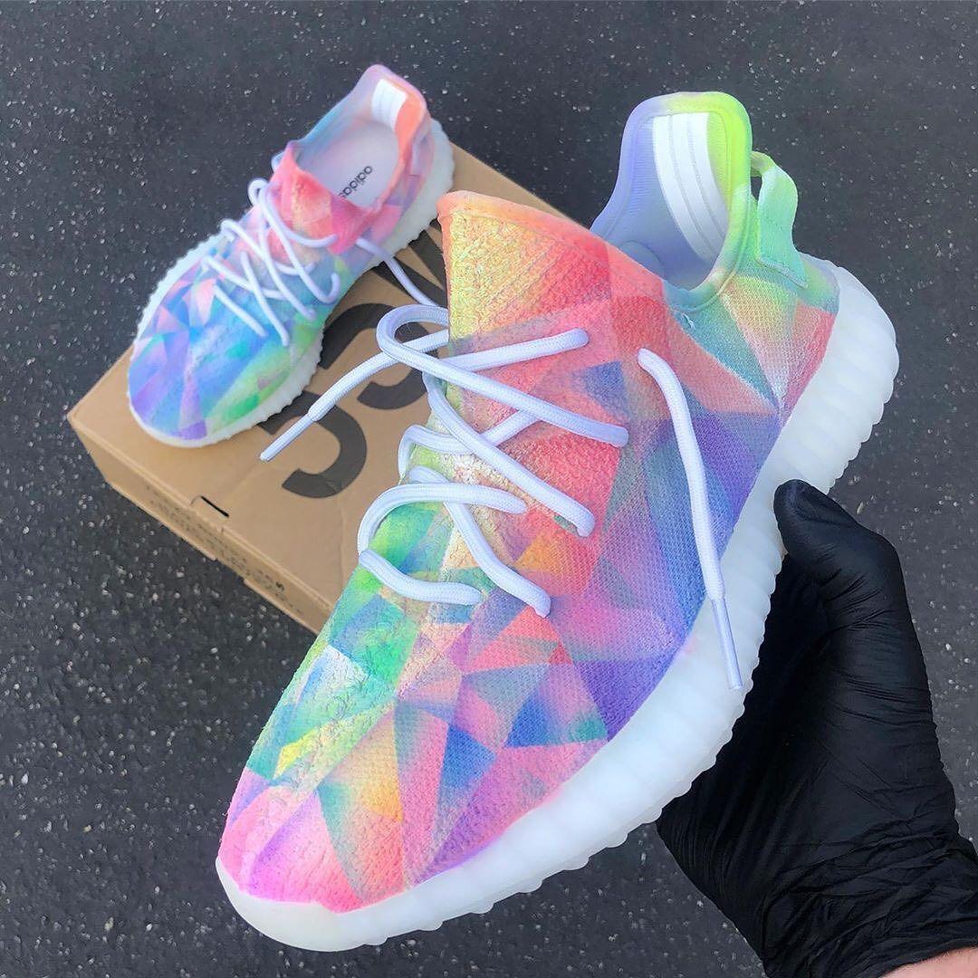 Prism Custom Adidas Yeezy Sneaker