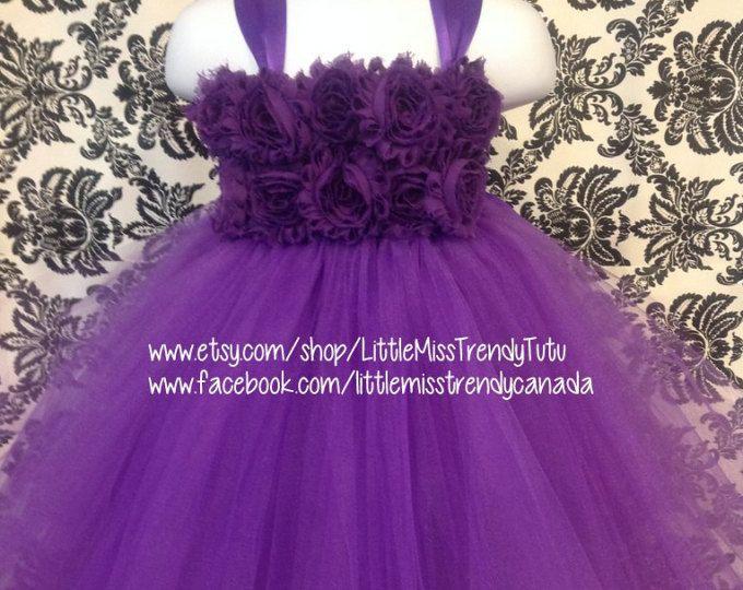 f052c965634 Flower girl dress Deep Purple tutu dress flower top