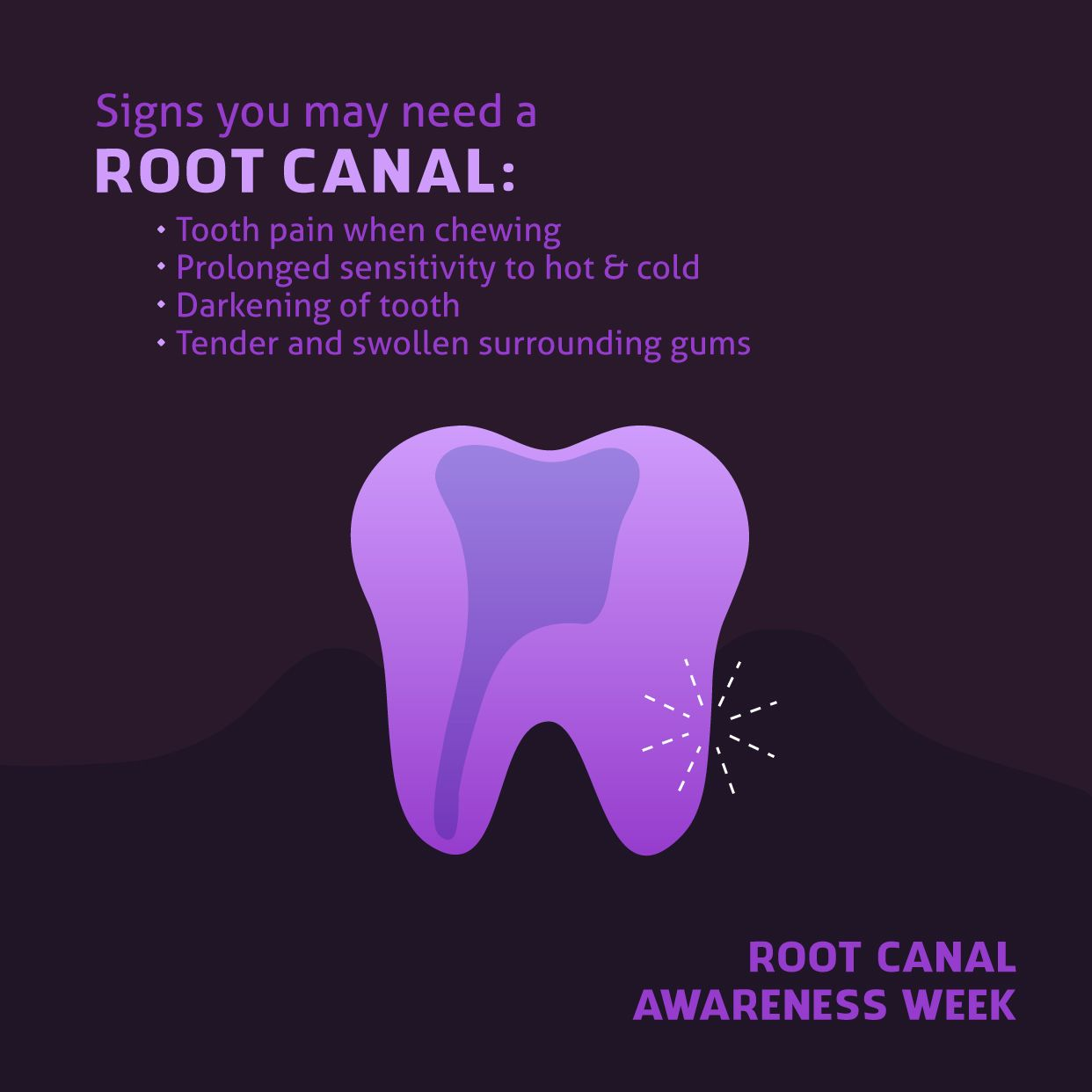 DON'T KNOW IF YOU need a root canal? These signs may just