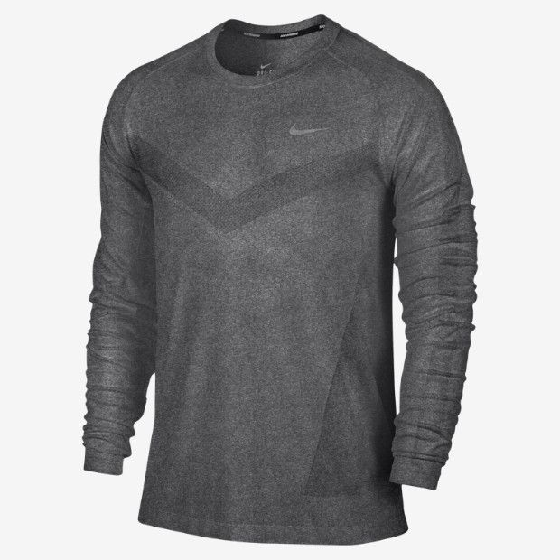 taille 40 1e32d e9045 Nike Dri-FIT Knit Long-Sleeve Men's Running Shirt ...