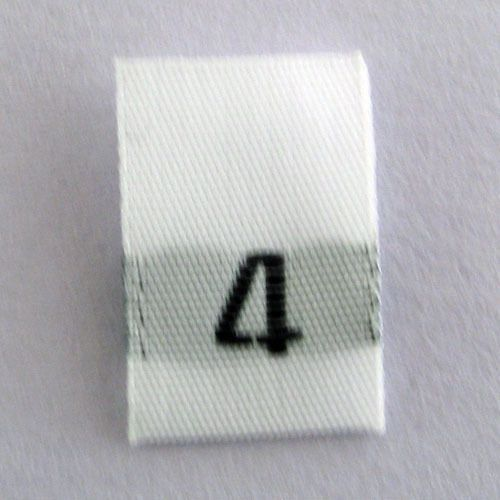 7920d6b74a63 size 4 Four woven size labels-Qty 100- tags tabs tab tag clothing ...