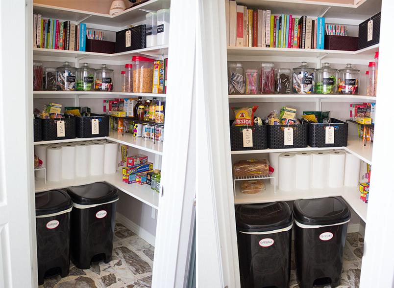 Organizar a despensa ou o armário da cozinha