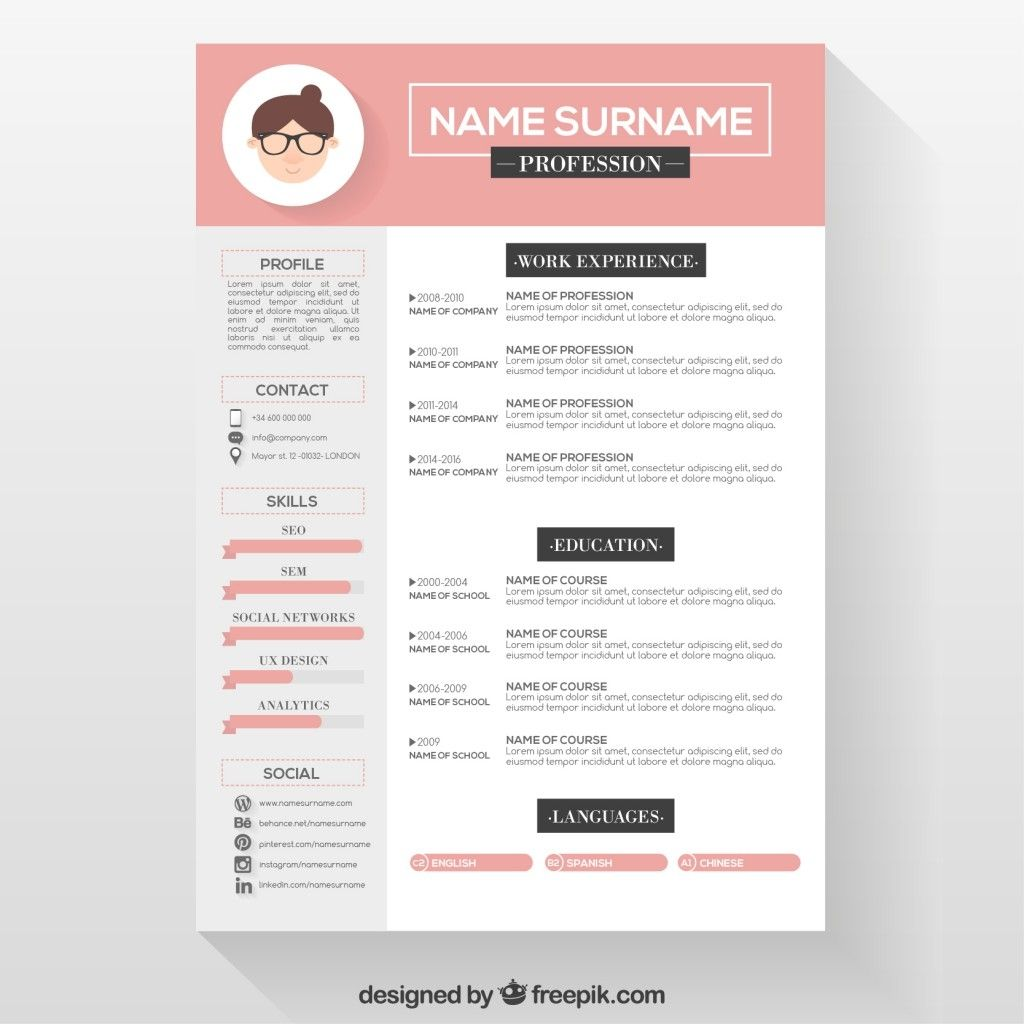 professional attractive resume templates free download