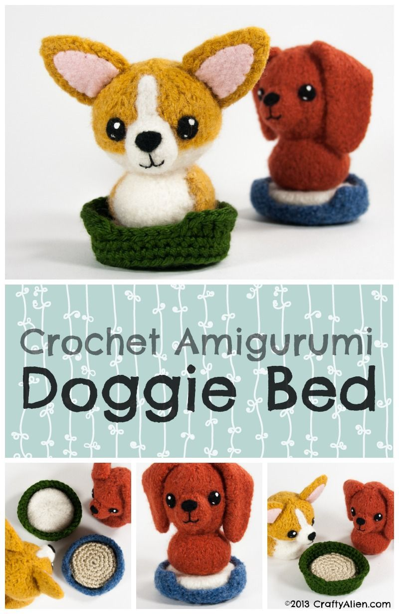Free Crochet Amigurumi Dog Bed Pattern | Amigurumi, Crochet and Patterns