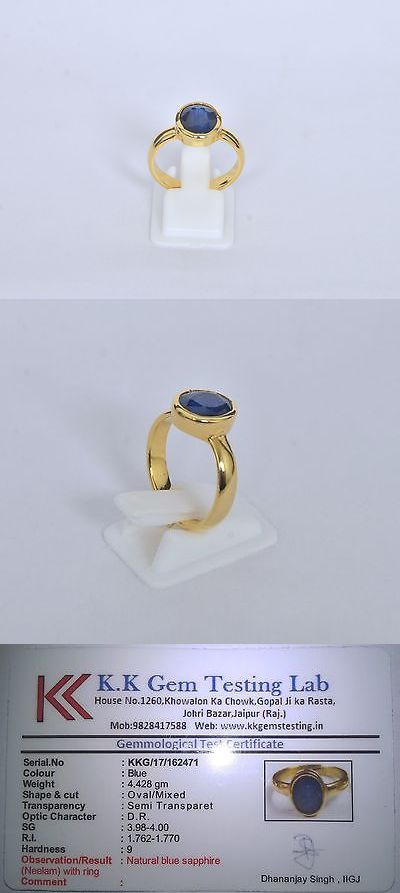 Ebay Enement Rings | Other Wholesale Rings 48761 100 Natural Certified Neelam Blue