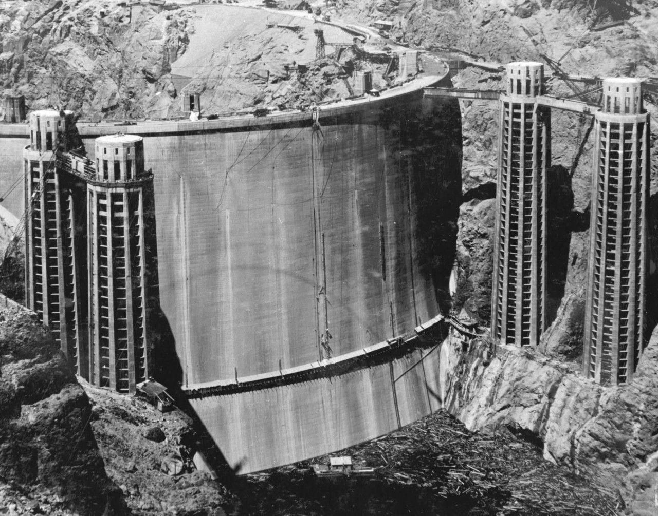 Construction Of Hoover Dam Hoover Dam History Vault