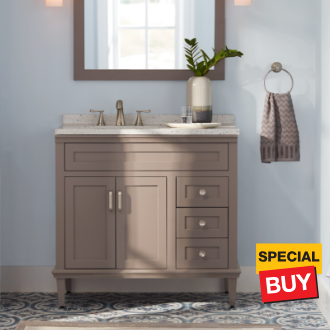 36 Abbotsford Taupe Grey Grey Home Decor Bathrooms Remodel Solid Surface Vanity Top