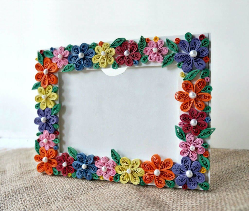 DIY Paper Quilled Photo Frame | quilling | Pinterest | Quilling ...