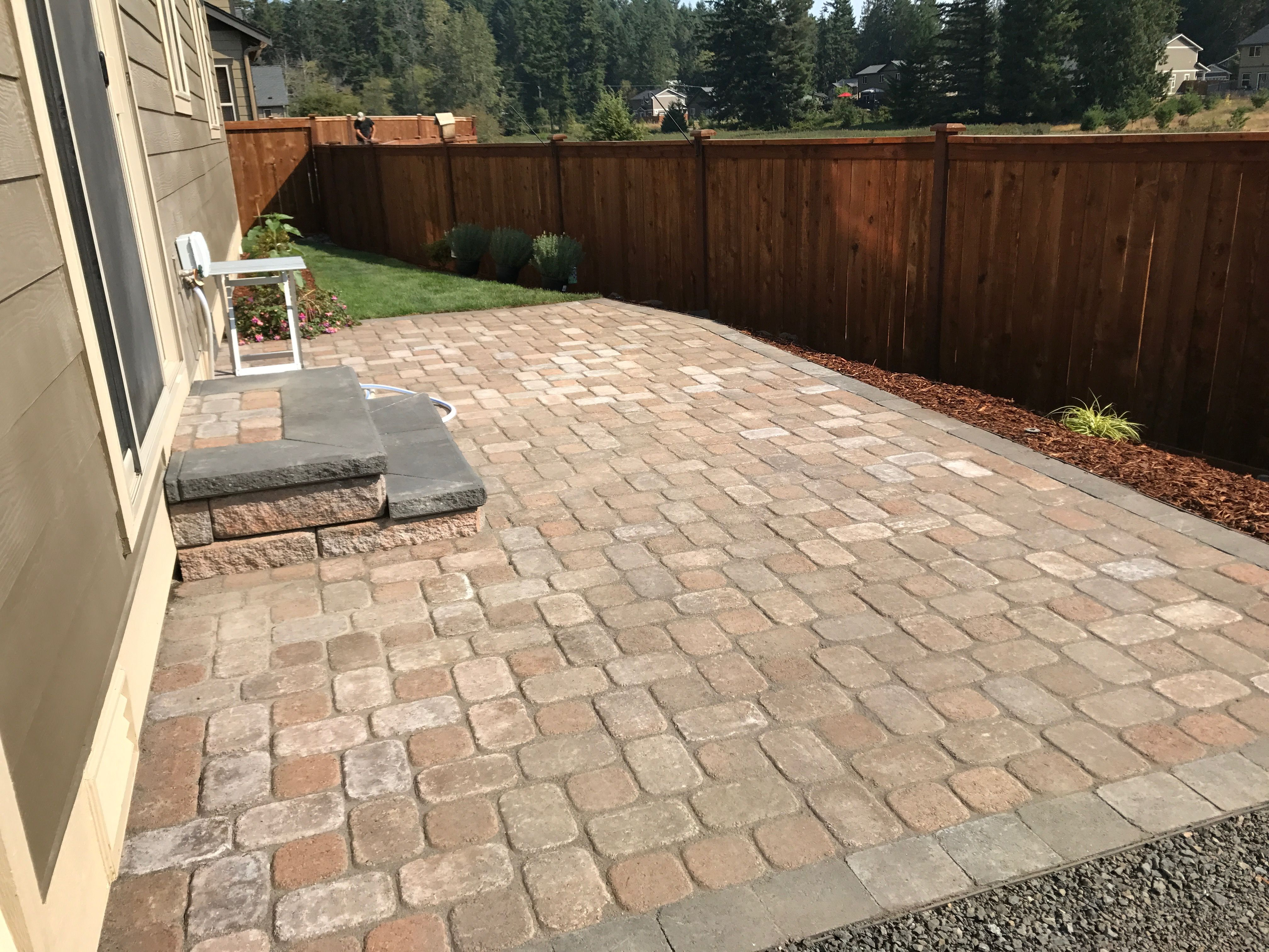Superior Installed Paver Patio And Steps In Silverdale