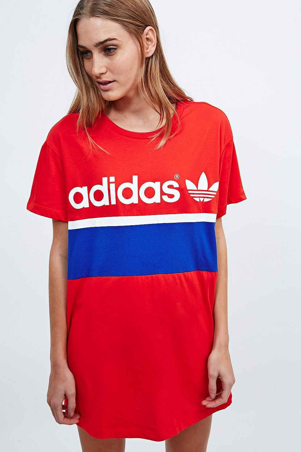 45290f11f37 Adidas City Tee Dress in Red - Urban Outfitters | Adidas | Adidas ...