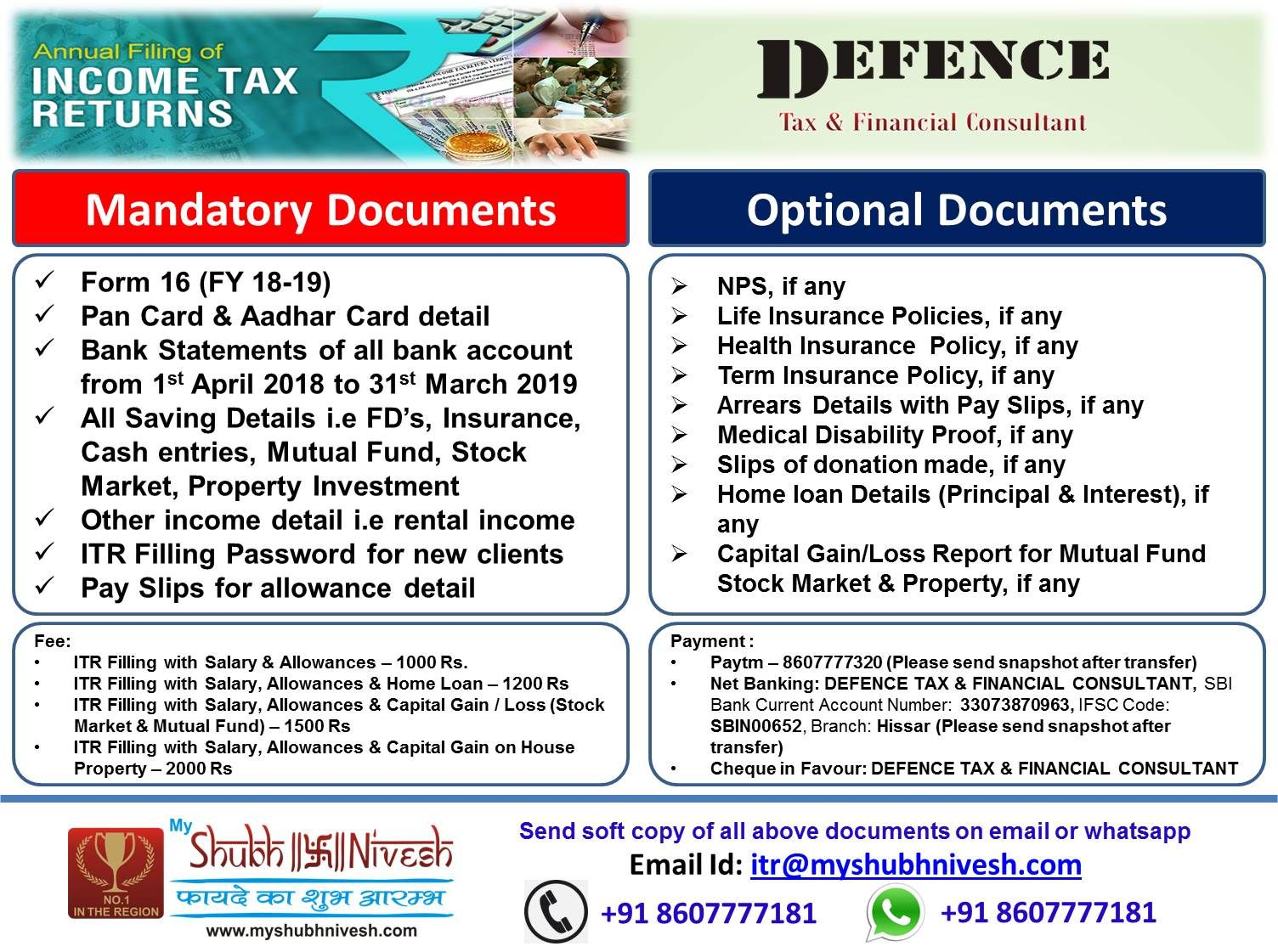 File Your Itr With Us Health Insurance Policies Life Insurance