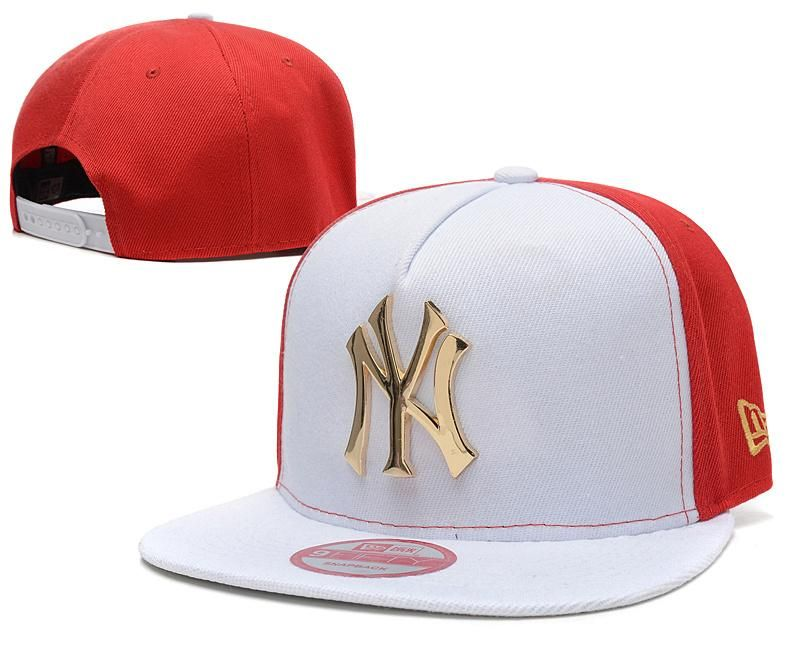 e2c418df33a47 Men s New York Yankees New Era 9Fifty Gold Metal NY Logo A-Frame Baseball  Snapback Hat - White   Red