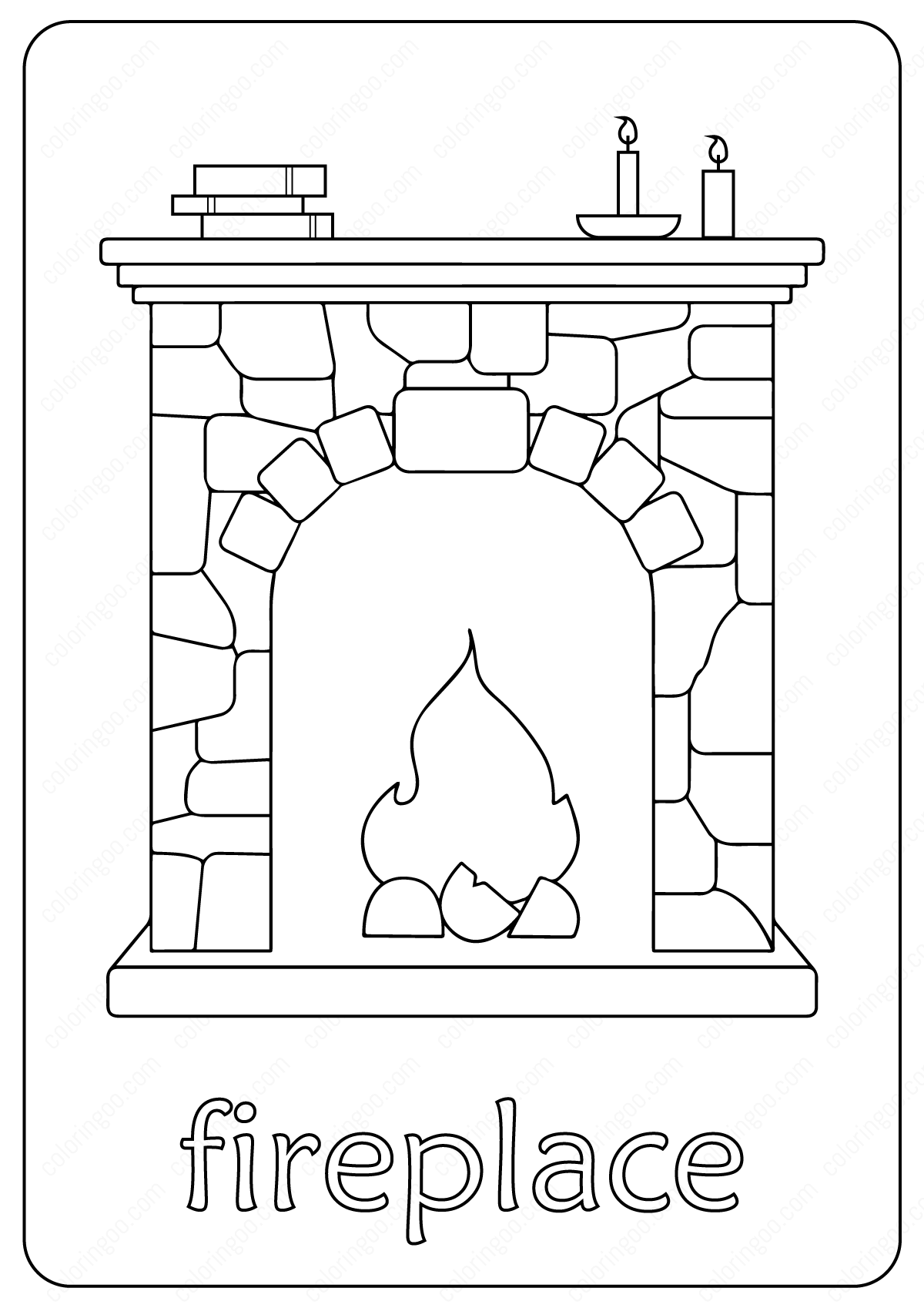 Free Printable Fireplace Coloring Pages Coloring Pages Elsa Coloring Pages Fireplace Drawing