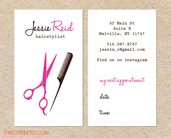 Business card appointment card inspiration for cards and imagery hairstylists hairstylist business cardssalon colourmoves Image collections