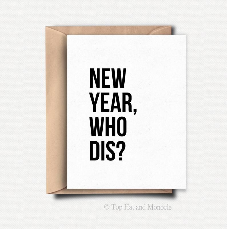 Funny New Year Card Funny Christmas Card Funny Holiday