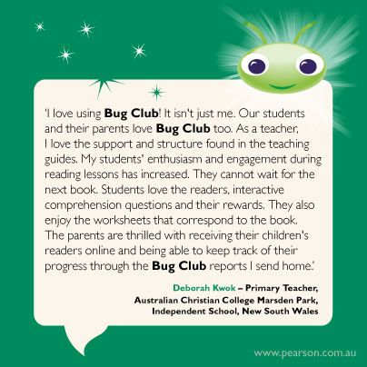 Deborah Shares Her Experiences With Bug Club Www Pearson Com Au