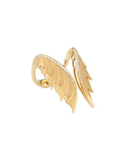 Stephen Webster Magnipheasant 18k Diamond Open Wing Ring M1LeS7hzCB
