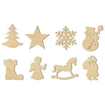 Holz Anhänger Weihnachten, 8er Set 100465 | Tannenbaumanhänger ...