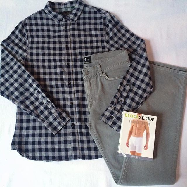 Jachs NY button down.  7 For All Mankind denim
