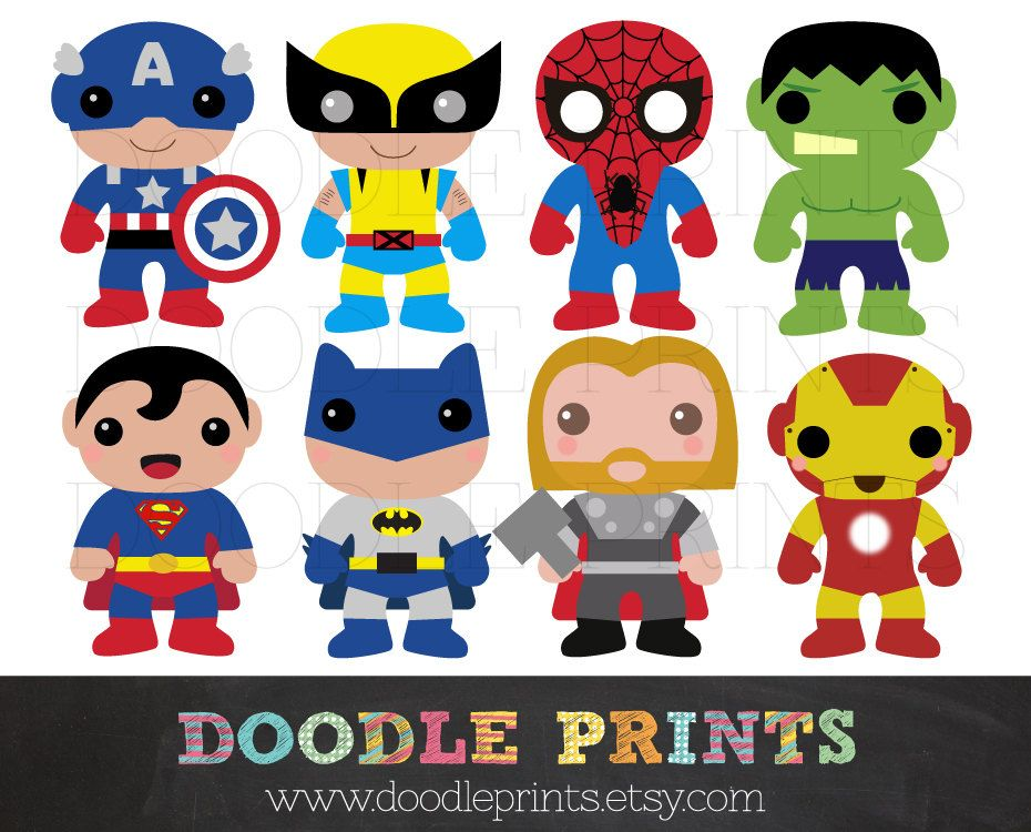 Superman printable. Super hero clipart design