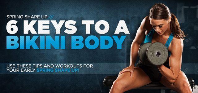Bodybuilding.com - Spring Shape Up: Dein Bikini-Körpertraining ...  - Fitness - #BikiniKörpertrainin...