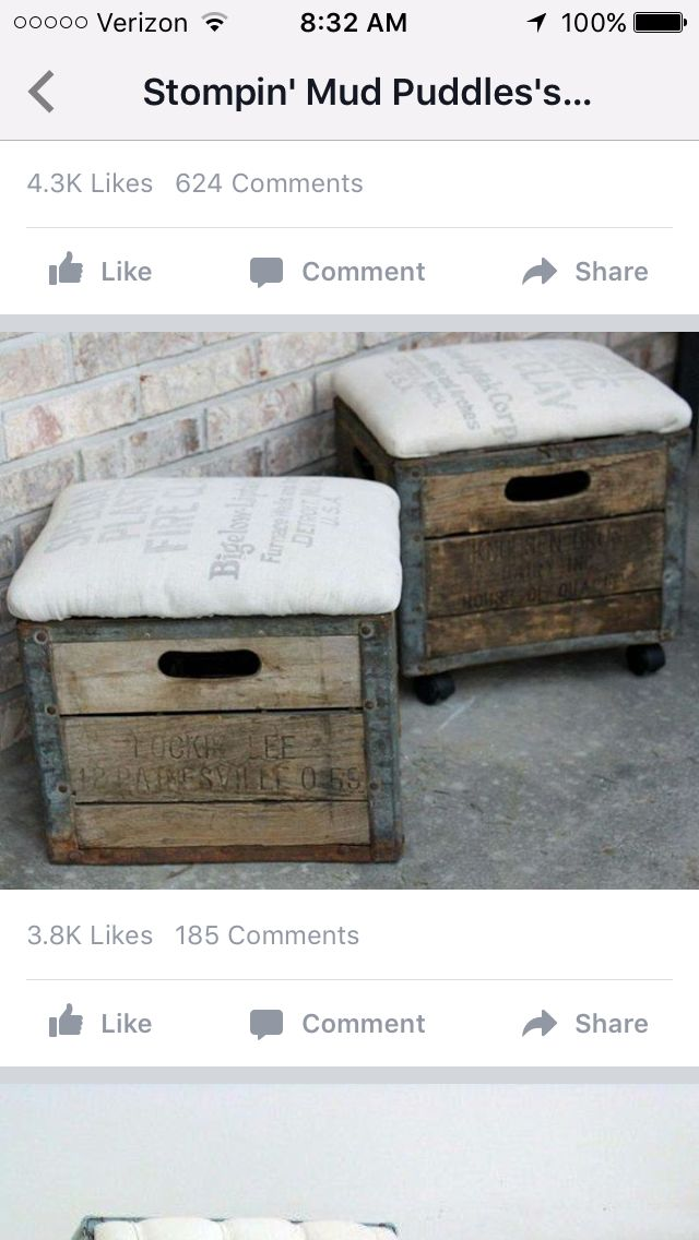 Maybe milk crates