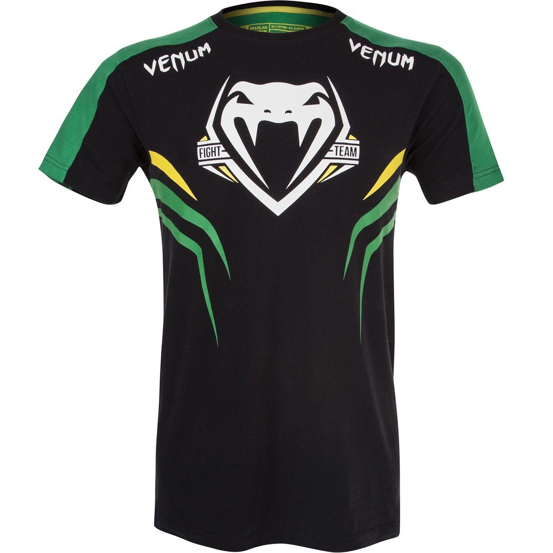 Venum Shockwave T Shirt Black Green Venum Muaythai Thaipads Gloves Shinguards Headgear Msmfightshop B Black Shirt Fight Shorts Mma Gloves