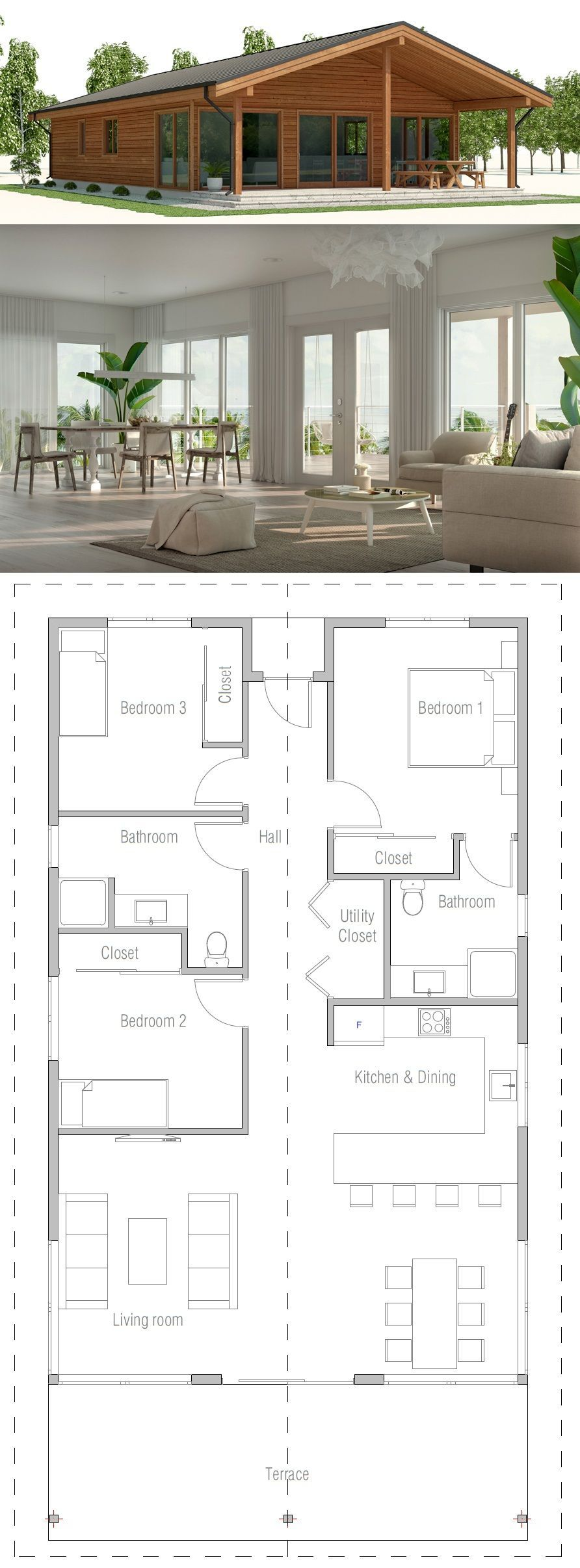 Affordable Home Plan 28 8 X 45 10 New House Plans House Design Floor Plans