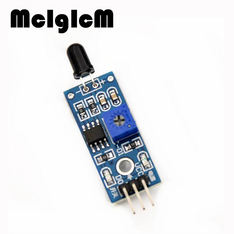 86073 Free shipping 10pcs Flame Sensor Module Flame Temp Board Detector Smartsense For Temperature Detecting Suitable