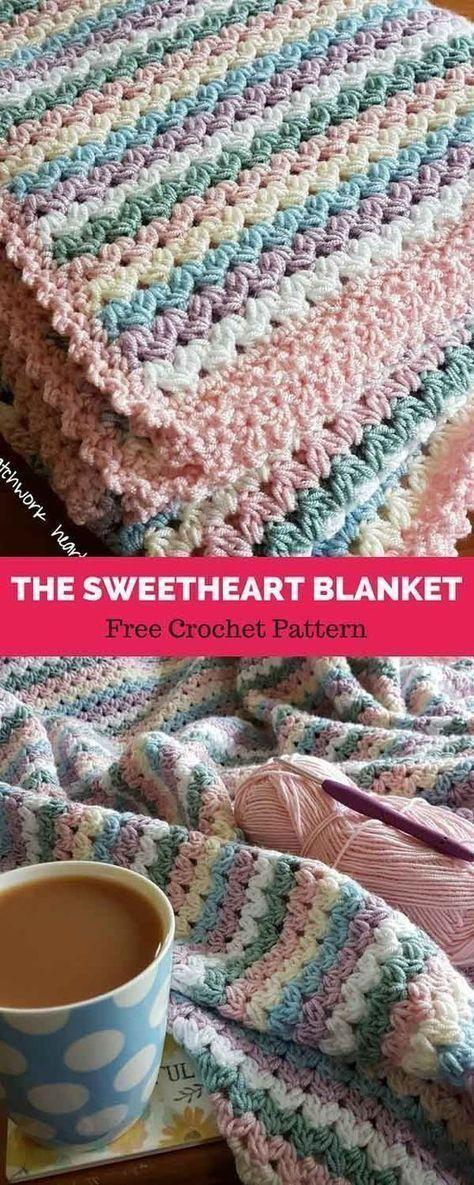 The Sweetheart Blanket [ FREE CROCHET PATTERN | Häkeln/Stricken ...