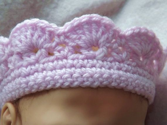 CROWN CROCHET Pattern - My Little Princess Crown - Pink and Girly Baby and Child sizes #crownscrocheted