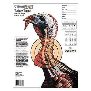 Target Shooting Champion Range and Target Deer Targets Lifesize Vitals 12 pack