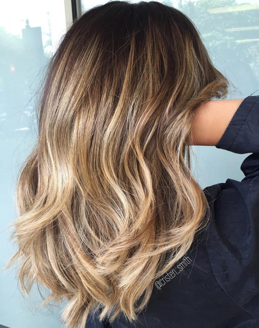 48 Trendy Hair Ideas Shoulder Length Colour Waves Brown Hair Balayage Hair Styles Hair Color Balayage