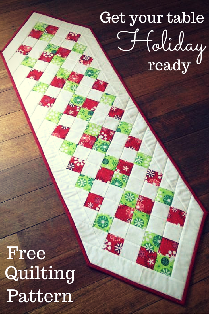This Free Runner Pattern Is Easier To Make Than You Might Think With Some Quick Strip Piecing Ll Have Festive Table Decor The Whole Family Will Love