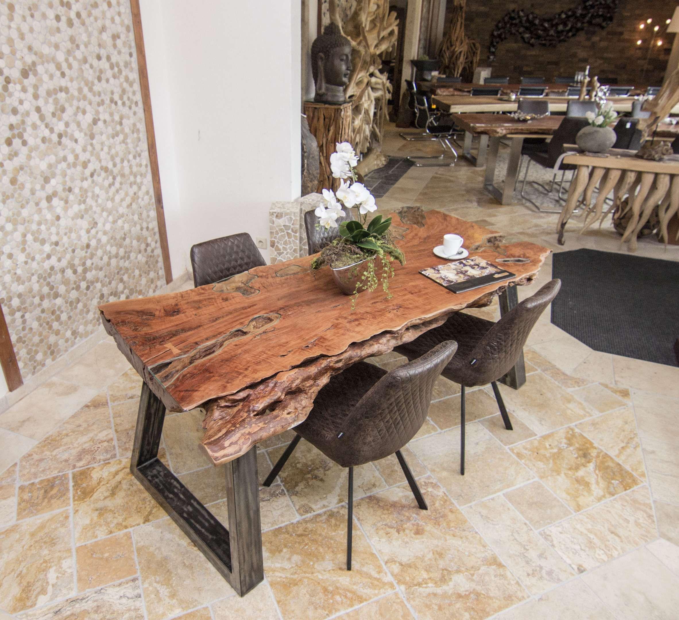 Esstisch Baumplatte Good Tisch Massivholz Baumstamm