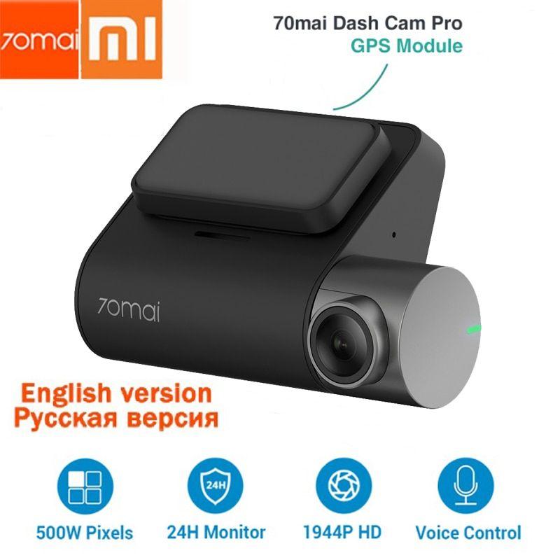 Xiaomi 70mai GPS Pro Dash Cam w// 24H Auto Monitor Night Vision