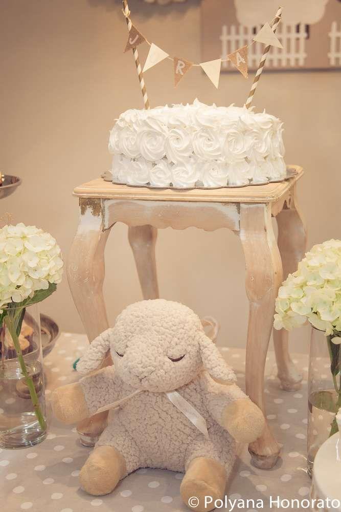 Little lamb baptism party ideas in 2018 baptism - Catch de fille ...