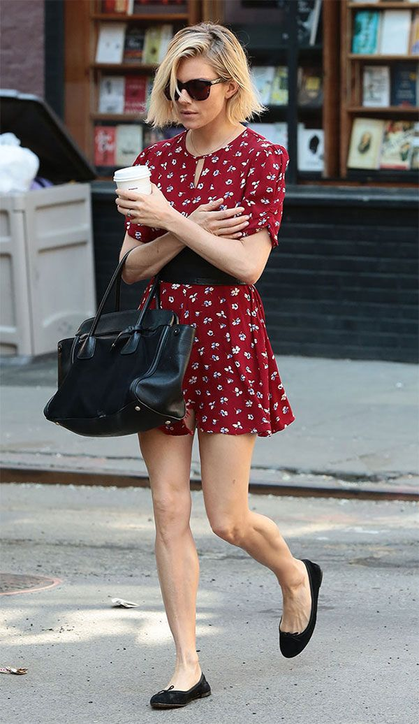884ff55687714 Como usar sapatilha no verão   Style.   Sienna Miller, Sienna miller ...
