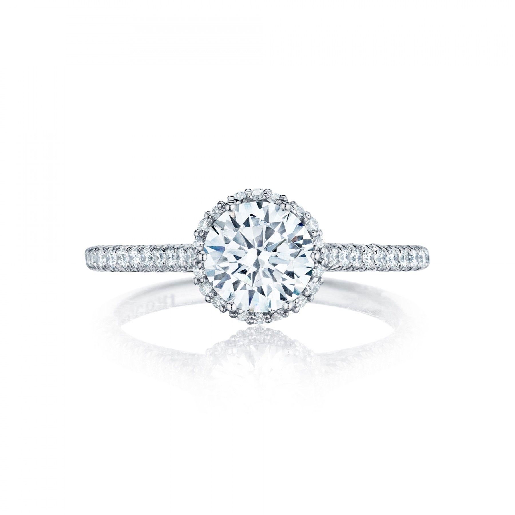 Even A Subtle Halo Makes A Difference  Style# Ht254715rd65  Petite  Crescent  · Tacori Engagement Ringsengagement