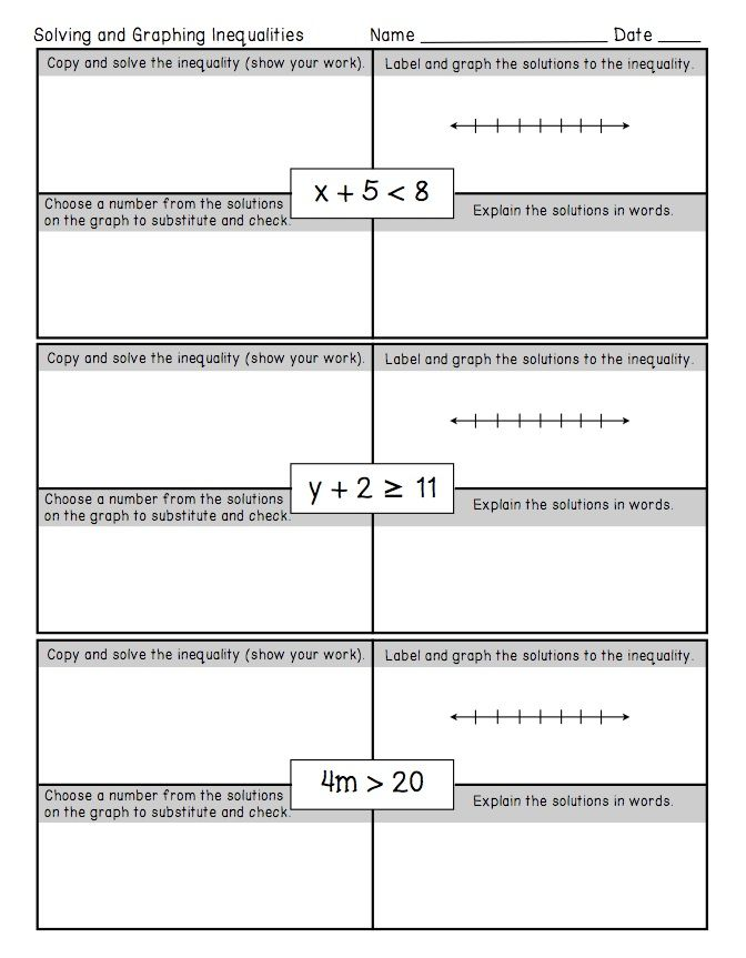 Freebie One Step Inequalities Worksheet This Freebie Is Also Part Of A Larger F Word Problems Graphing Linear Equations Activities Inequality Word Problems