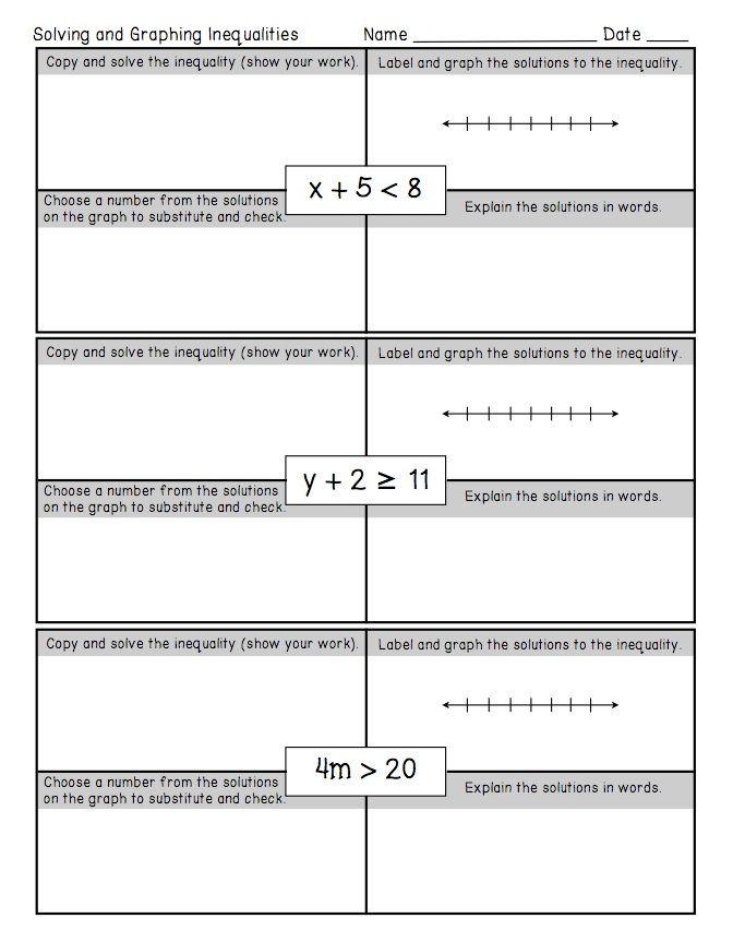 one step inequalities worksheet multi step inequalities worksheets ...
