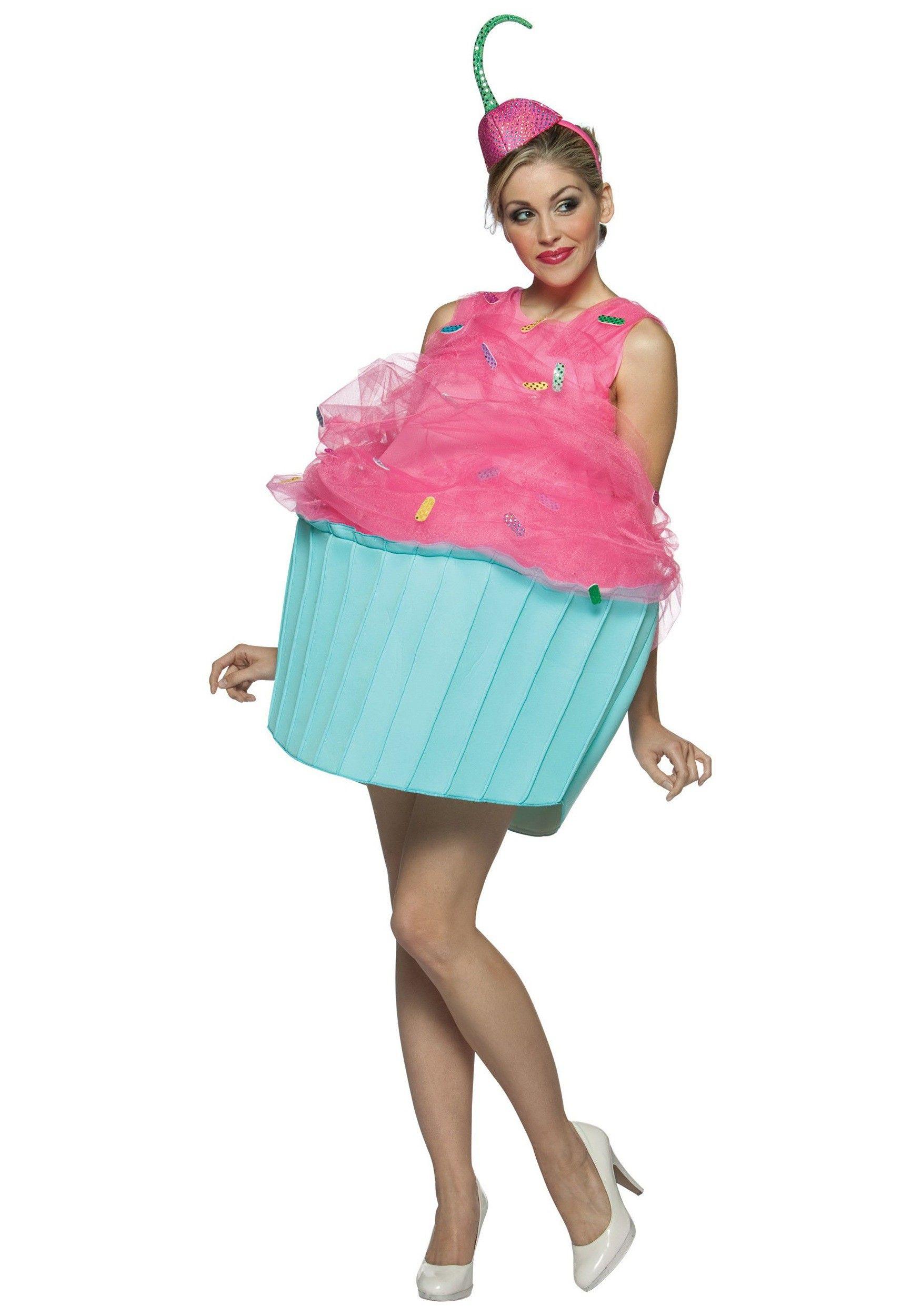 Fantasia Feminina Cupcake Criativa Traje para Festa a Fantasia