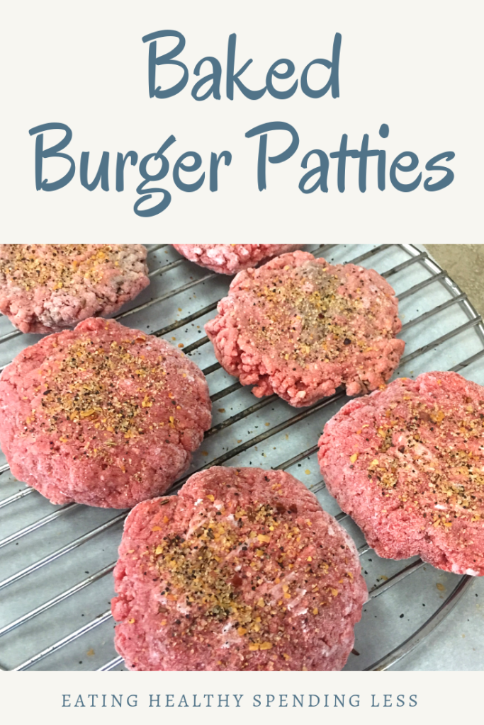 Baked Burger Patties Recipe In 2020 Baked Burgers Burger Patty Recipe Oven Baked Burgers