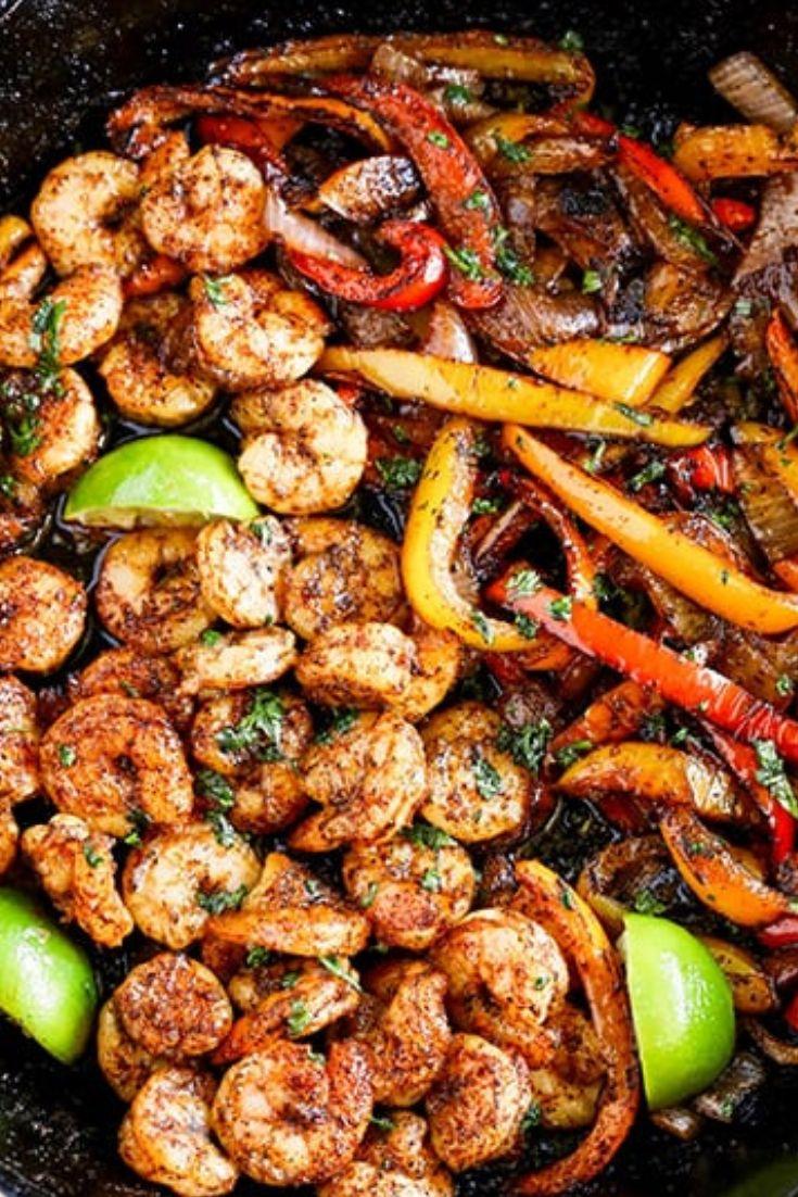 Skillet Shrimp Fajitas Easy Dinner Recipe images