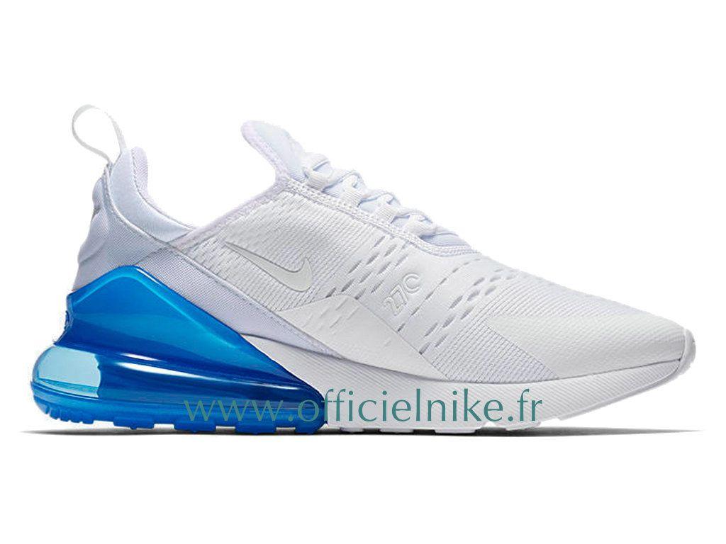 watch 11cca b6ba7 Homme Chaussure Officiel Nike Air Max 270 Blanc Bleu AH8050-105