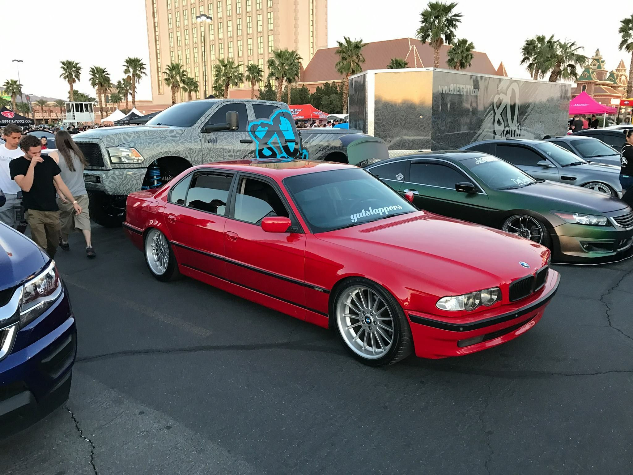 Bmw E38 Imola Rot With Style 32 20 With Images Bmw E38 Bmw