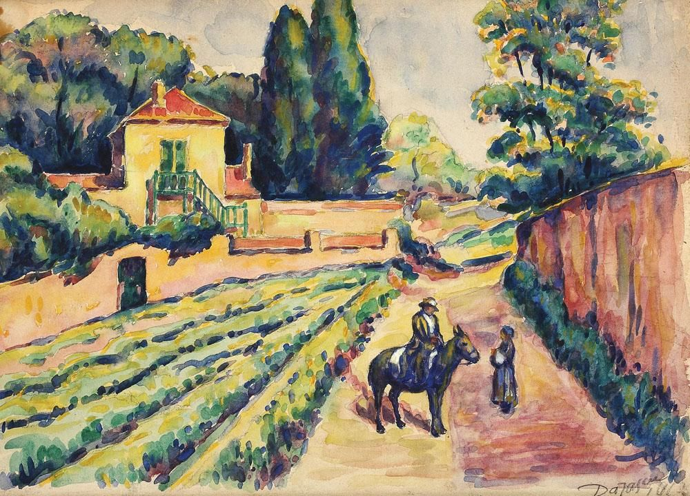 Shepherd and Sheep at Vlaici, 1912 by Nicolae Darascu. Post-Impressionism. landscape